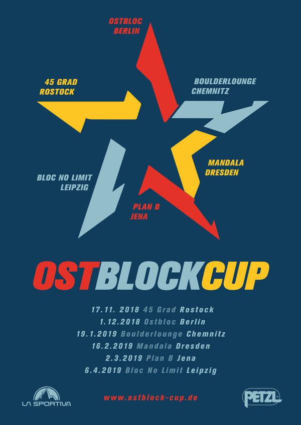 Plakat für Ostblock-Cup 2018/2019